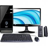 Computador Qbex com AMD Dual Core, 4GB, 400GB, Linux + Monitor LED 15,6